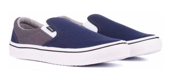 Zapatillas Rave Pancha Skate Hombre Azul/ Gris N° 34/44