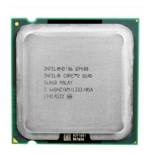 Processador Intel Core 2 Quad Q9400 2.66ghz/6m-775 + Pasta