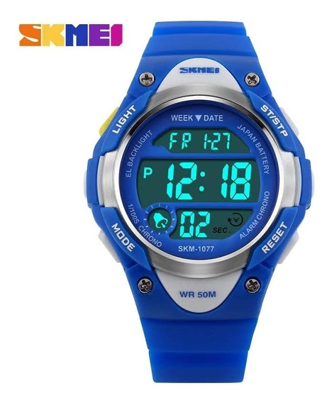 Relógio Infantil Skmei Digital 1077 Azul / Rosa