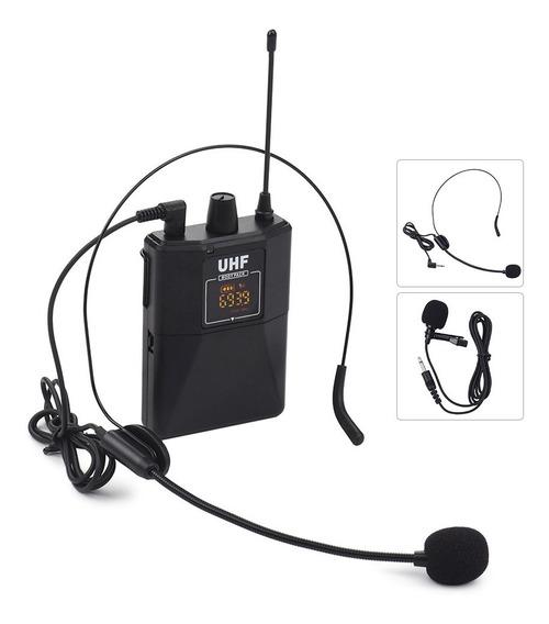 Conjunto De Microfones Sem Fio De Frequência Dupla Uhf Com