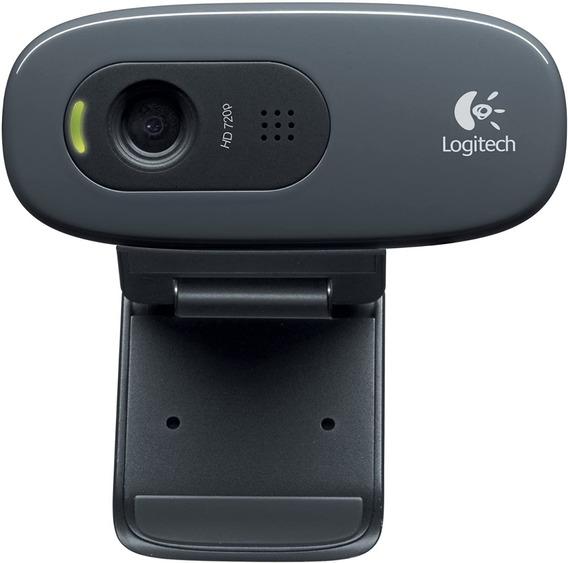 Webcam Logitech C270 Hd 720p 3mp Chamada E Gravação Em Vídeo