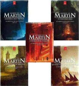 Coleção As Cronicas De Gelo E Fogo Game Of Thrones Livros