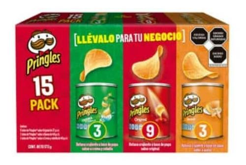 Imagen 1 de 4 de Pringles® Pack 15 Piezas 3 Sabores 573 Gr