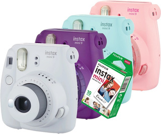 Câmera Instantânea Instax Mini 9 Tipo Polaroid +10 Filmes Nf