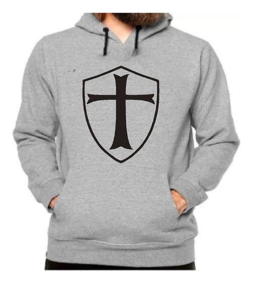Moletom Cavaleiro Templário, Agasalho Blusa De Frio Moleton.