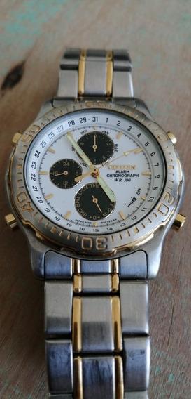 Relógio Citizen Cronograph + Alarm Wr 100 (raridade)