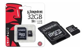 Cartão De Memória Micro Sd 32 Gb Lacrado + Adaptador