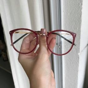 04d28a334 Oculo Grau Rosto Redondo - Óculos Vermelho no Mercado Livre Brasil