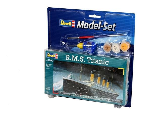 Kit Revell Model Set Rms Titanic 1/1200 Completo 65804 05804