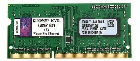 Memoria Kingston Ddr3 4gb 1600 Mhz 1.5 V Sodimm Kvr16s11s8/4