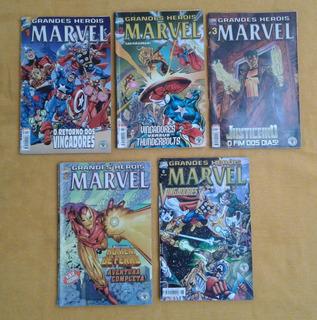 Hq Grandes Heróis Marvel - 2ª Série/abril - 01 A 06 (5 Un)