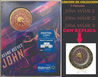 Blu Ray John Wick Edicion Coleccionista Whit Dath Marker
