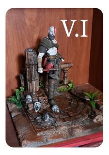 Maqueta Para Neca God Of War Kratos - Dioramas V.i