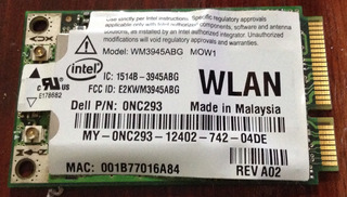 Placa Wifi Notebook Dell Wm3945abg Mow1