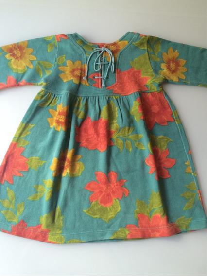 Vestido Infantil Outono/inverno Da Green Tam. 3