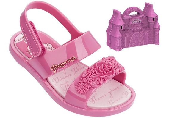 Sandália Infantil Grendene Princesas Com Brinde 21863 | Katy