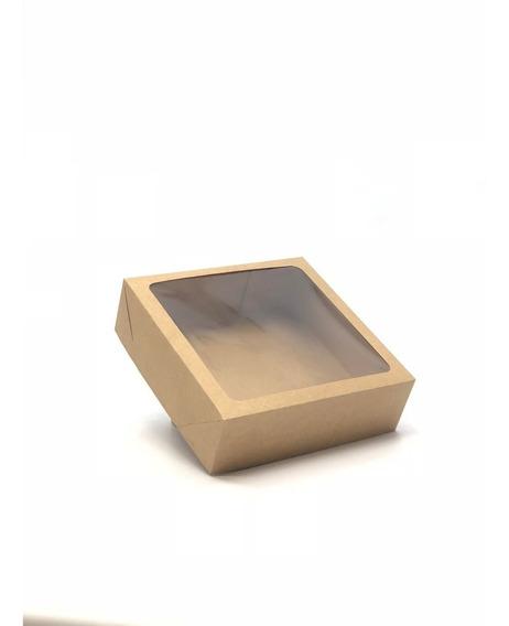 20 Caixas De Presente 20x20x6cm: Com Visor / Tampa E Fundo