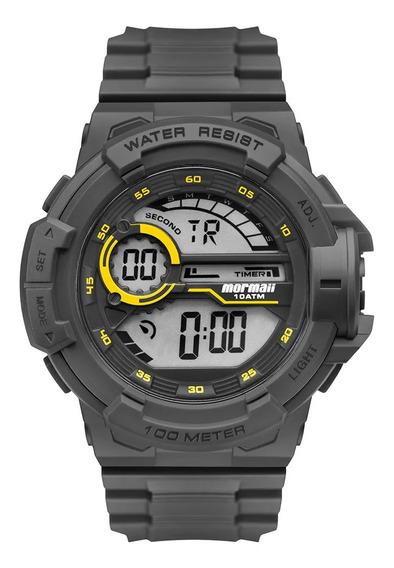 Relógio Masculino Digital Cinza Mormaii Prova Dágua Original