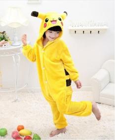 Pijama Macacão Infantil Pikachu Verão De