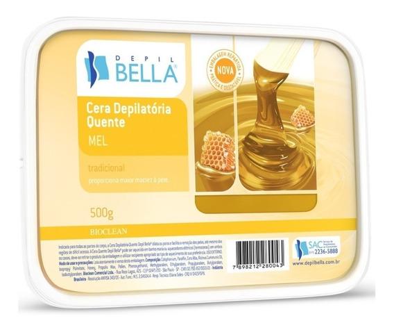 Depil Bella Cera Depilatória Quente Mel 500g Depilaçao