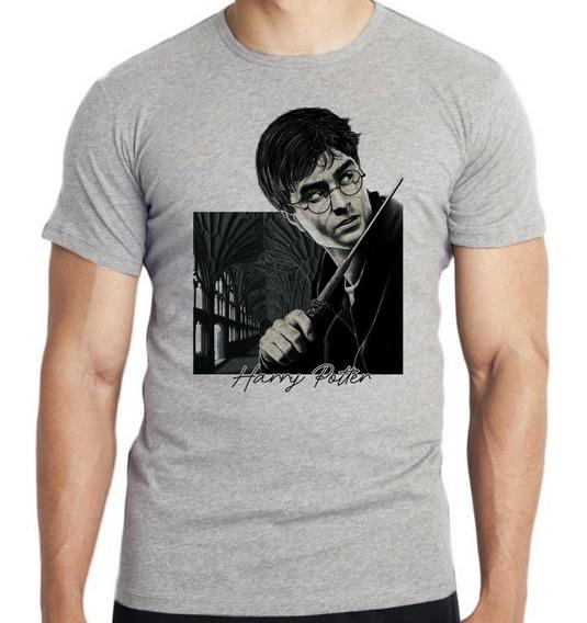 Camiseta Infantil Harry Potter Varinha Magico Bruxo Filme