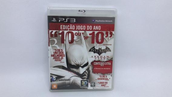 Batman Arkham City Edição Jogo Do Ano - Ps3 - Cd Original