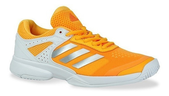 Tenis adidas Mujer Naranja Claro Adizero Court Wbb0550