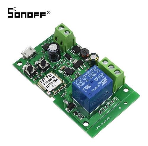 Imagen 1 de 5 de Sonoff Interruptor Wifi 5v 12v 24v Ac/dc Bsf-b01 Domotica