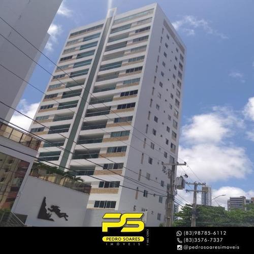 Apartamento Com 4 Dormitórios À Venda, 136 M² Por R$ 850.000 - Cabo Branco - João Pessoa/pb - Ap3740