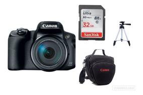 Câmera Canon Poweshot Sx70hs 65xzoom 20.3mp+bolsa+32gb+tripé