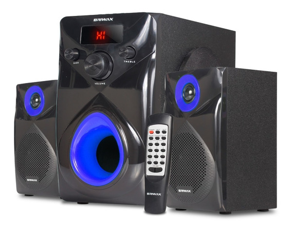 Home Theater Subwoofer 2.1 Bluetooth Caixa Som Estéreo Pc Tv