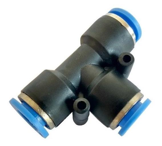 União T Emenda Tubo Pun Conexão Rápida - 8mm - 1 Pç
