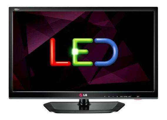 Tv - Monitor Lg Led 24 Preto Brilhante 24mn33n - Semi-novo