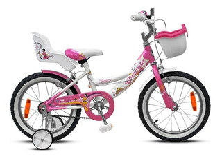 Bicicleta Aurora Flower Rodado 16 Niña Infantil Nena