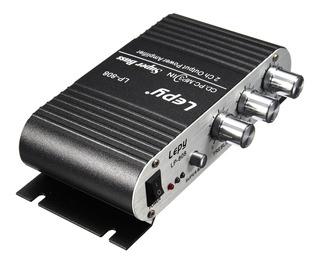 Lepy Lp-808 12v Mini Coche Moto Hogar Hi-fi Audio Estéreo De