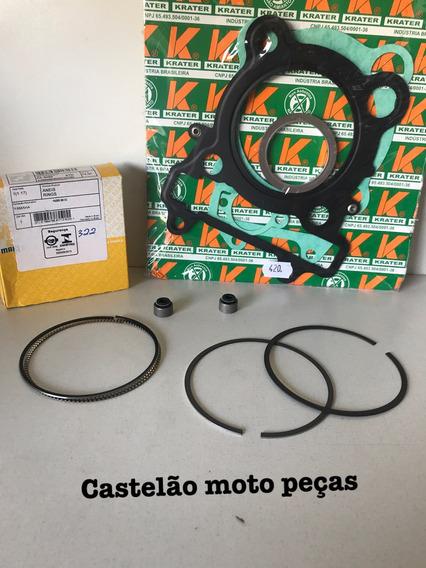 Jogo Anéis Pistão Fazer- Lander 250 + Retentor Válvula +