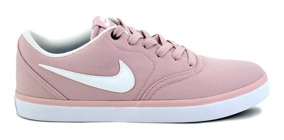 Tênis Nike Sb Check Solar Canvas Feminino Skate Skt Rosa