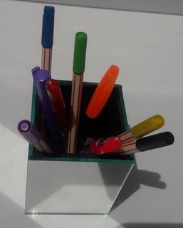 2porta Lápis De Espelho Canetas