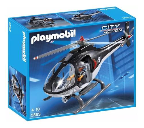 Playmobil Helicoptero Policia Con Luces 5563
