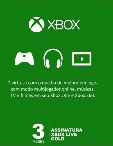 Imagem 1 de 1 de Xbox Live Gold 3 Meses Código Digital Oficial Brasil