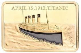 Titanic Moeda Comemorativa Banhada A Ouro Presente