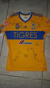 Playera Tigres Ap17 Firmada / Autografiada Por El Equipo
