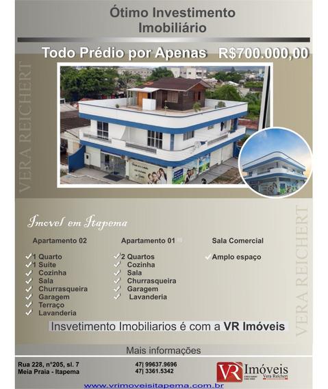 Vende Prédio Com Três Andares Em Itapema Imb660