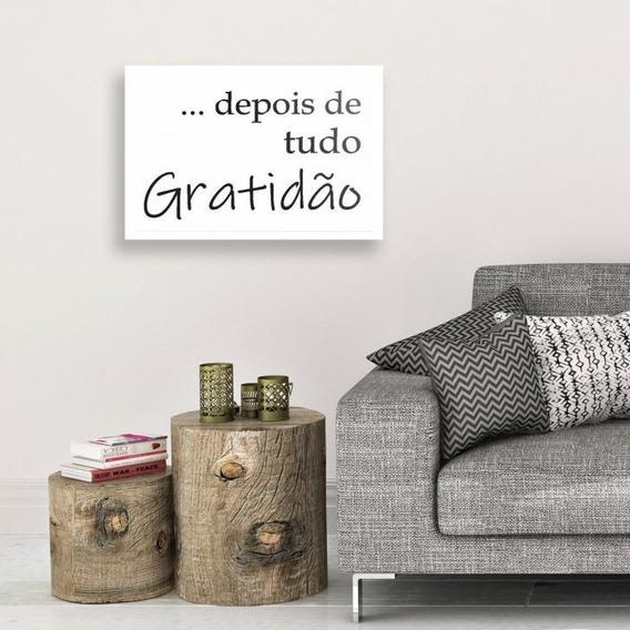 Placa Decorativa Frase Depois De Tudo Gratidão 20x30cm Mdf