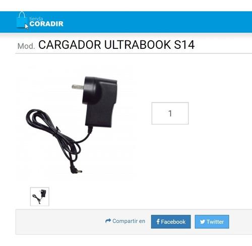 Imagen 1 de 3 de Cargador Netbook Coradir Ultra S14   5v 2.5a  Ficha Fina