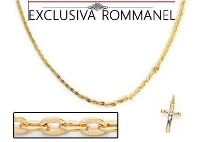 Correntinha Folheado A Ouro Rommanel + Pingente 530308