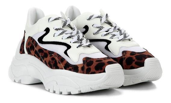 Tênis Feminino Sneaker Chunky Animal Print Zatz Damannu