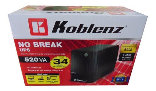 No-break Koblenz 5216, 520va/240w, 6 Cont; 3 Años Garantia,