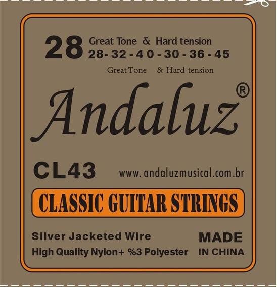 Pack 10 Unidades Jogo De Cordas P/violão Nylon 0.28 Andaluz