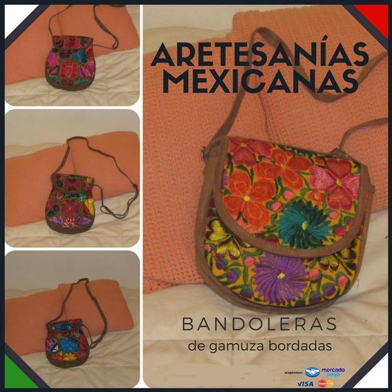 Carteras Bandoleras Bordado Mexicano